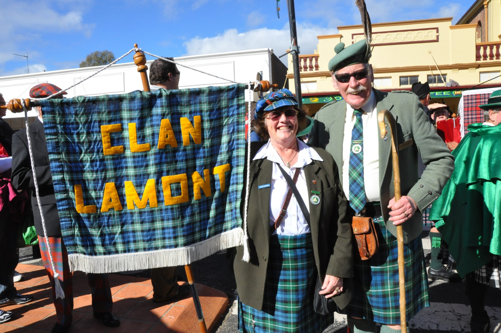 James (Lieutenant to the Chief) and Jean Burden - Clan Lamont - Australian Celtic Festival, Glen Innes, 2011